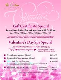 gift card specials gift certificates eastern spa woodbury ny
