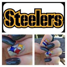 football freehand steelers nail art by artsychris instagram