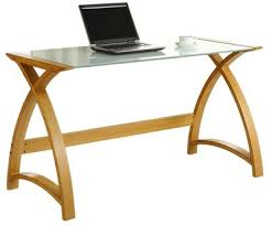 Tesco Computer Desks Buy Jual Curve Curved Oak And White Glass Laptop Desk From Our