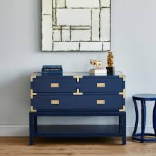 Navy Side Table Hourglass Stool Side Table Navy Blue Bungalow 5