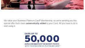 Business Platinum Card Amex Ymmv American Express Business Platinum 50 000 Points Bonus For