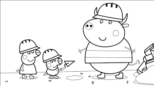 peppa pig with george and other coloring book coloring pages video