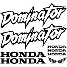 honda dominator wallstickers folies honda dominator decal stickers kit