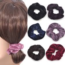 ponytail holder 4 pcs fashion women elastic accessories party hair scrunchies