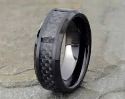 carbon fiber wedding rings carbon fiber ring etsy