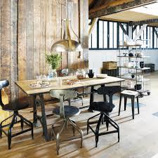 chaise industrielle maison du monde chaise indus en métal effet vieilli télégraphe maisons du monde