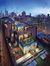 phenomenal five story penthouse in tribeca penthouses rooftop