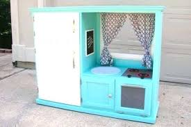 tv cabinet kids kitchen when she was finished her old entertainment center had become an