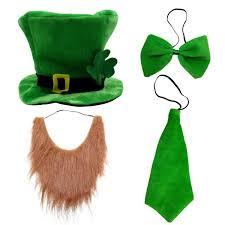 st patrick day costume leprechaun top hat and beard accessory