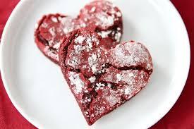 heart shaped cookies velvet crinkle cookies velvet cake mix cookies two