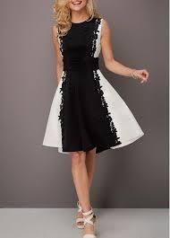 sleeveless dress color block lace panel sleeveless dress modlily usd 18 34
