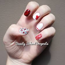 beauty dropouts canada day mix u0026 match manicure