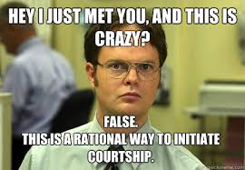This Is Crazy Meme - hey i just met you and this is crazy false this is a rational