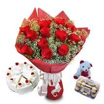 Online Flowers Flowers Combo Online Flowers Hampers Flowers Cake U0026 Chocolate Combo