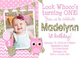 girls first birthday invitations girls 1st birthday invitations