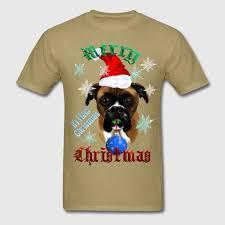 boxer dog xmas wonderful christmas boxer dog t shirt spreadshirt