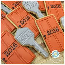 sugar cookies front doors keys corporate meeting treats house