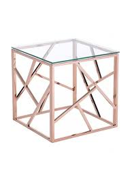 Gold Side Table Aero Gold Glass Side Table Modern Furniture Brickell