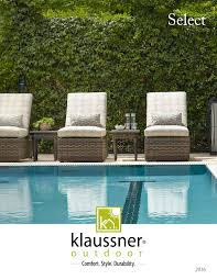 Klaussner Furniture Warranty Select Outdoor Catalog 2016 By Klaussner Home Furnishings Issuu