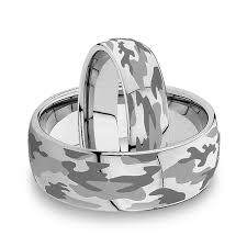 matching wedding bands 6mm 8mm domed camo tungsten wedding band set