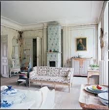 interior rustic old scandinavian kitchen design with white