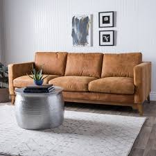 leather sofa free delivery charming light brown leather sofa filmore 89 inch tan leather sofa