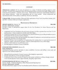 administrative assistant resume bio example