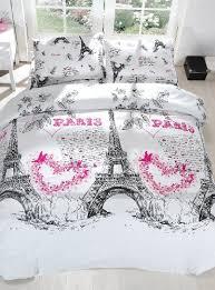 Sizes Of Duvet Covers 100 Cotton 3pcs Paris Hearts Single Twin Size Duvet Cover Set