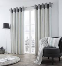 White Faux Silk Curtains Grey And Teal Curtains Curtain Vertical Stripe Blue Lined