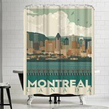 Skyline Shower Curtain Shop Anderson Design Group Canada Montreal Skyline Shower Curtain