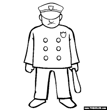 police coloring free police coloring