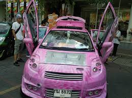 mitsubishi eclipse ricer pink riced toyota lambo doors jpg