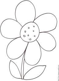 mprimer le coloriage d u0027une grosse fleur tête à modeler