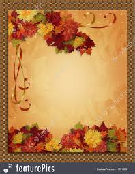 holidays thanksgiving autumn fall border stock illustration