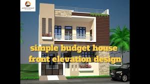 best simple budget house front elevation design best indian home
