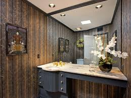 asian powder room with inset cabinets u0026 flush light in palm