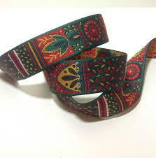 aztec ribbon 2 yards of tribal american aztec jacquard ribbon trim