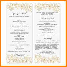 Printable Wedding Programs Free Wedding Program Template Wedding Program Template Diy Editable