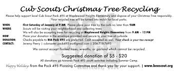 2017 christmas tree recycling fundraiser pack 495 renton wa