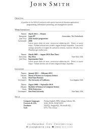 standard resume template resume standard resume templates