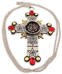 rose cross necklace images The rose cross pendant necklace golden dawn jewelry jpg