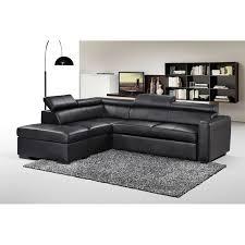 delamaison canapé canapé d angle convertible simili cuir avec pouf