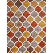 Orange Modern Rug Home Dynamix Tremont Collection Hd5012 731 Beige Orange Modern