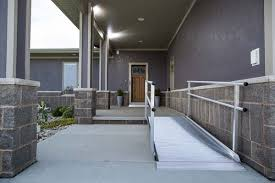 Home Handrails Ez Access Wheelchair Pathway Ramp With Handrails U2013 Safe Home Pro