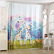 popular giraffe bedroom curtains buy cheap giraffe bedroom cute giraffe print kids 3d window curtain for living room home decoration 2pc 1 4mx2