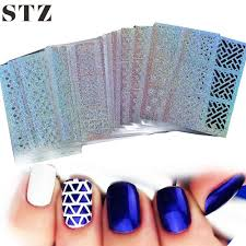 stz 24 sheet sets diy nail vinyls 24syleshollow irregular stencils