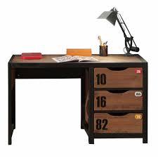 bureau enfant garcon en bois massif à 3 tiroirs pour chambre garçon