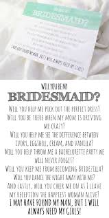 asking of honor poem will you be my bridesmaid card bridesmaid poem they also