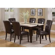 Acme Dining Room Set Acme United Justin Dining Room Collection Modern 7pcs Set Faux