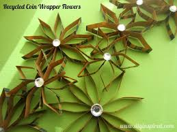 recycled coin wrapper flowers recycled craft tutorials
